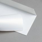 Metallics schimmernd Hüllen DIN lang Weiß mit Goldschimmer | ohne Fenster