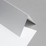 Metallics schimmernd Karten DIN lang hochdoppelt Weiß mit Goldschimmer