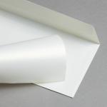 Metallics schimmernd Hüllen DIN lang Creme mit Goldschimmer | ohne Fenster