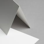 Metallics schimmernd Karten 150 x 150 mm hochdoppelt Creme mit Goldschimmer