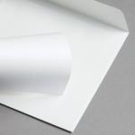 Metallics schimmernd Hüllen 155 x 155 mm Weiß mit Silberschimmer