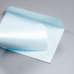 Enveloppes Majestic Metall C6 Bleu clair