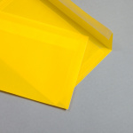 Transparent Farbig Hüllen DIN C5 Gelb