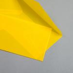 Transparent Farbig Hüllen DIN lang Gelb