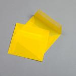 Transparent Farbig Hüllen 125 x 125 mm Gelb