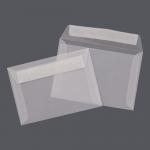Transparent Farbig Hüllen DIN C6 weiß