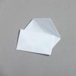 Transparent Farbig Visitenkartenhüllen Weiß