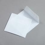 Transparent Farbig Hüllen 125 x 125 mm Weiß