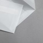 Transparent Premium Briefumschläge haftklebend 125 x 125 mm | ohne Fenster | gerade Klappe