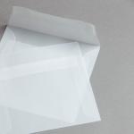 Transparent Premium Briefumschläge haftklebend 160 x 160 mm | ohne Fenster | gerade Klappe
