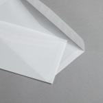 Transparent Premium Briefumschläge nassklebend 114 x 229 mm