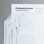 Transparent Premium Probepäckchen