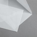 Transparent Premium Briefumschläge nassklebend DIN C6