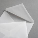 Transparent Premium Briefumschläge nassklebend DIN C7