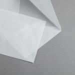 Transparent Premium Briefumschläge nassklebend DIN C5