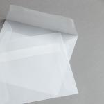Transparent Premium Briefumschläge 140 x 140 mm haftklebend