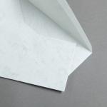 Marmor dtp Hüllen DIN lang Hochweiß / Hellgrau | mit Futter