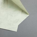 Marmor dtp Hüllen DIN C6 Weiß / Braun