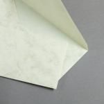 Marmor dtp Hüllen DIN lang Weiß / Braun | ohne Futter