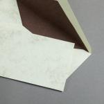 Marmor dtp Hüllen DIN lang Weiß / Braun | mit Futter