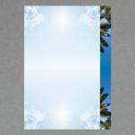Ciel avec palmiers A4