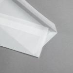 Enveloppes Transparent Premium DL   sans fenêtre   rabat droit