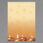 4 runde Kerzen DIN A4