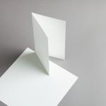 Opaline Karten DIN lang hochdoppelt | 25 Stück