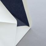 Creme enveloppes B6 avec doublure couleur Bleu foncé
