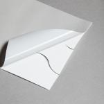 Laserdruckerfolie Silber, selbstklebend