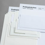 Leinen neue Qualität Probepäckchen - zusammen mit Probe Edelpost