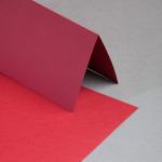 Karten DIN lang hochdoppelt Karminrot   25 Stück