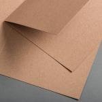 Kraftpapier Muskat Klappkarte quadratisch 310 x 155 mm