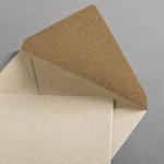 Graspapier Hüllen DIN B6 125 x 176 mm nassklebend
