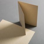 Cartes en papier herbe A5 haut double