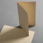 Cartes en papier herbe DIN long haut double