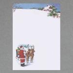 Weihnachtsmann mit Rentieren DIN A4