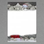 Silber-weiße Weihnacht 100 Blatt