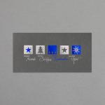 Silber-blaue Ornamente