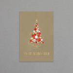 Rot-Gold-Silberner Weihnachtsbaum