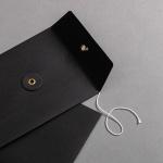 Umschlag C6 mit Bindfadenverschluss Schwarz