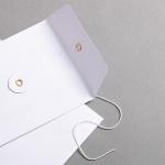 Umschlag C6 mit Bindfadenverschluss Weiß