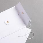 Umschlag DIN lang mit Bindfadenverschluss Weiß