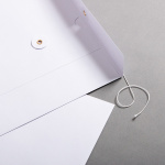 Envelope C4 with string and washer White