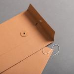 Umschlag C5 mit Bindfadenverschluss Braun