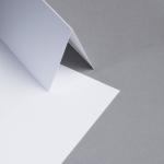 Metallics gebürstet Karten DIN lang hochdoppelt Silberweiß