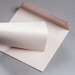 Metallics brushed envelopes 155 x 155 mm Nude