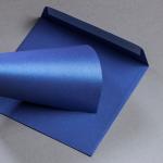 Metallics gebürstet Hüllen 155 x 155 mm Blueprint