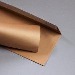 Metallics brushed envelopes DL Cognac