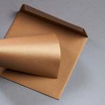 Enveloppes Metallics brossé 155 x 155 mm Cognac